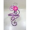 bracelet fleur mariage rose blanc violet