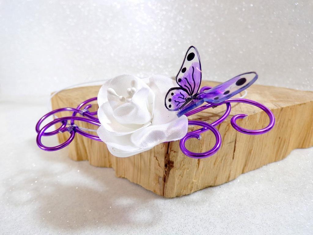 Collier mariage papillon fait main personnalisé