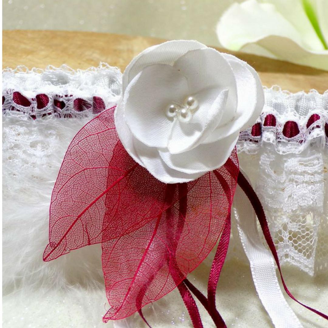 jarretière de mariée dentelle personnalisée