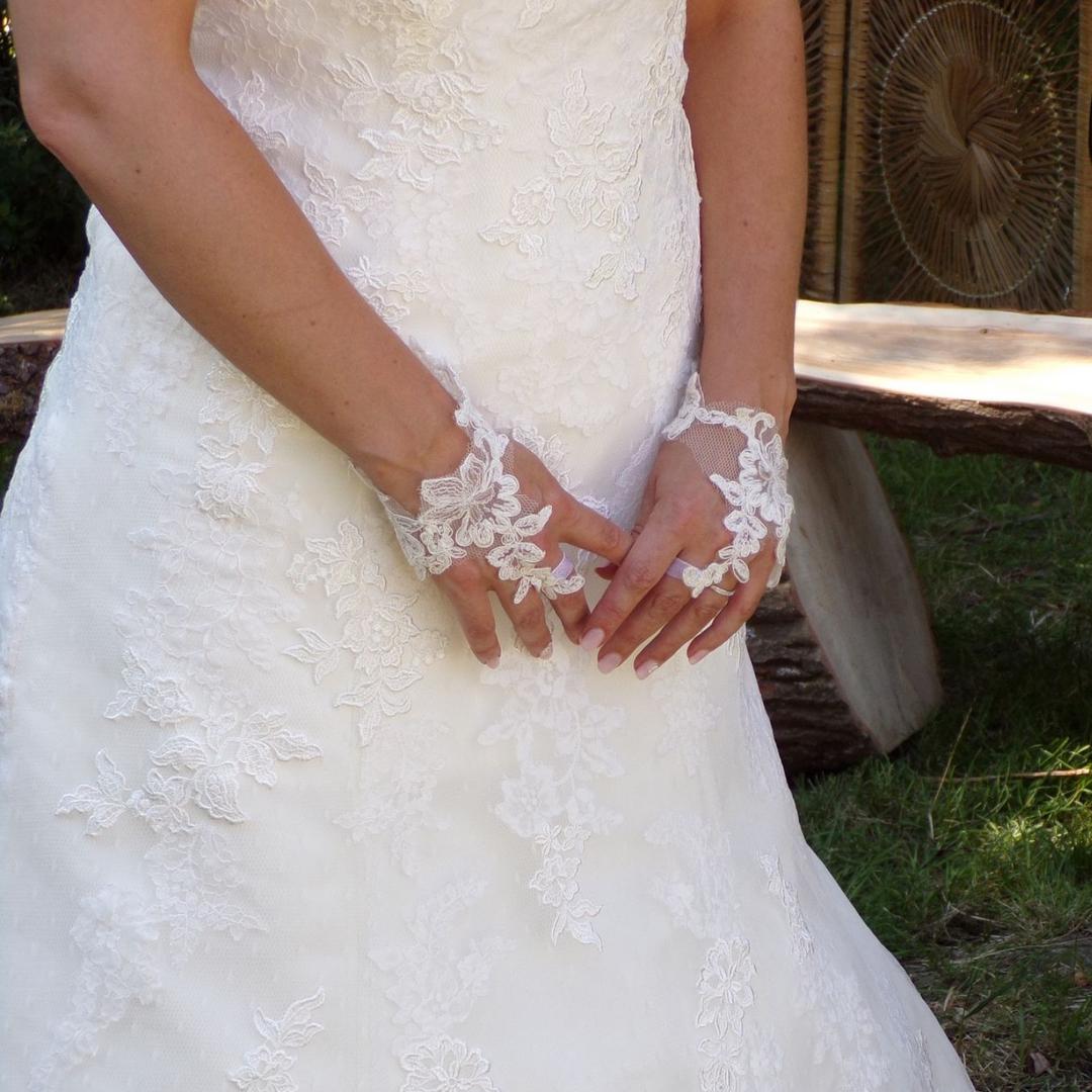 Mitaines dentelle de Calais mariage gants mariée personnalisés