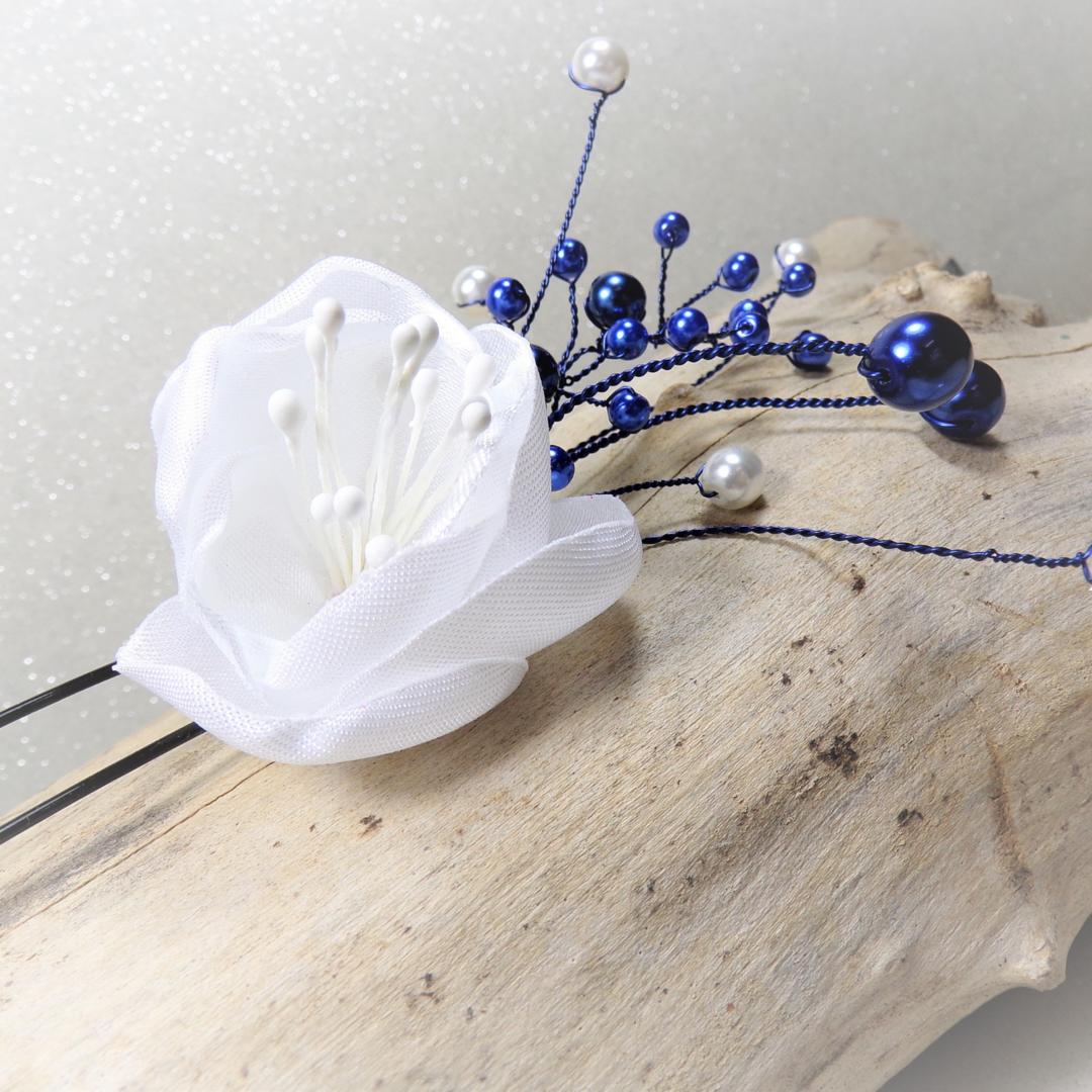 bijou épingle à cheveux fleur perles personnalisé