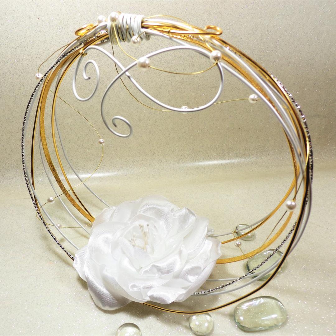 accessoire mariée personnalisé fleur panier alliances