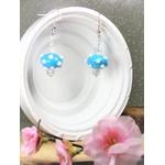 bijoux perles bleu blanc fait main