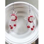 boucles doreilles mariée fleurs perles