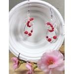 boucles doreilles fleurs perles mariage fait main