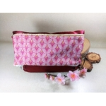 Pochette trousse xxl satin bordeaux faitmain