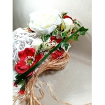 accessoire mariage champêtre fleurs artificielles fait main