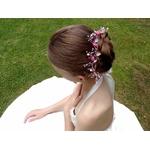Couronne fleurs mariage perles Swarovski rose et blanc