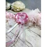 Accessoire de mariée fait main mariage dentelle rose