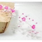 Couronne de fleurs  mariage rose Swarovski headband vigne