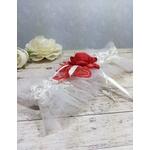 Accessoire de mariée fait main mariage dentelle rouge et blanc