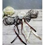 Accessoire mariée dentelle de Calais ivoire mariage fait main