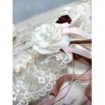 Accessoire mariage fleurs dentelle ivoire mariage personnalisé champêtre