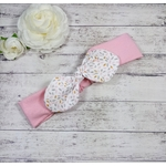 Bandeau cheveux bébé fille rose fait main