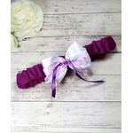 Jarretière de mariée violet parme blanc fait main mariage