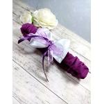 Accessoire mariée violet parme blanc fait main mariage