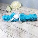 Accessoire mariée turquoise strass fait main