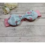 Bandeau rose bébé fille fait main sur mesure personnalisé