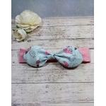 Headband fille bébé rose sur mesure fait main