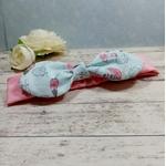 Bandeau bébé rose bleu plume personnalisé