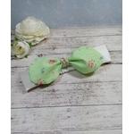 Bandeau bébé fleur vert beige fille sur mesure