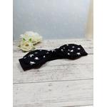 Headband fille bébé noir étoiles fait main personnalisé