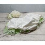 culotte bébé fille bouffante volant vert pomme beige
