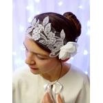 Headband dentelle strass mariée fleur