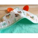 cape de bain bébé renard oreilles éponge