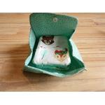 pochette et lingettes lavables bébé renard éponge fait main