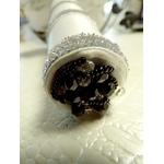 Bouquet de mariée noir et blanc orchidée roses plumes perles