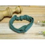 bandeau bébé fille élastique vert eucalyptus fait main