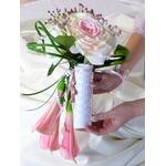 Bouquet de mariage arum rose