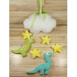 décoration chambre enfant dinosaure nuage étoiles fait main