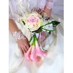 Bouquet de mariée romantique rose poudré