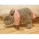 déco chambre bébé éléphant rose nuage fait main