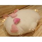 nuage rose et blanc suspension déco chambre bébé fille éléphant