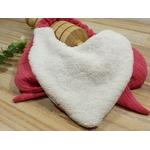 bavoir élastique fait main gaze de coton rose