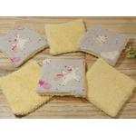lingettes bébé licorne éponge bambou rose jaune