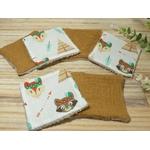 lingettes lavables éponge bambou renard indien