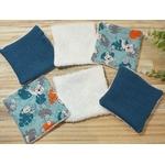 lingettes bébé lavables réutilisables éponge lion bleu blanc