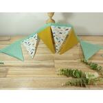 guirlande fanion décoration chambre enfant moutarde vert menthe libellule