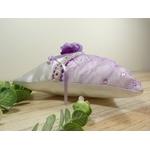 coussin dalliances satin mauve parme violet blac fleurs
