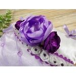 porte alliance mariage mauve parme violet fleurs