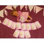 cartes étapes bébé princesse fait main illustré