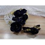 porte alliances coeur fleur bleu nuit or personnalisé