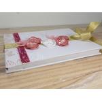 livre dor mariage personnalisé rose doré blanc