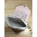 trousse de toilette femme rose romantique fait main cadeau