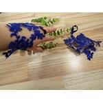 Mitaines mariée dentelle bleu royal personnalisé