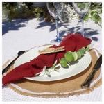 serviette de table tissu terracotta mariage baptême anniversaire